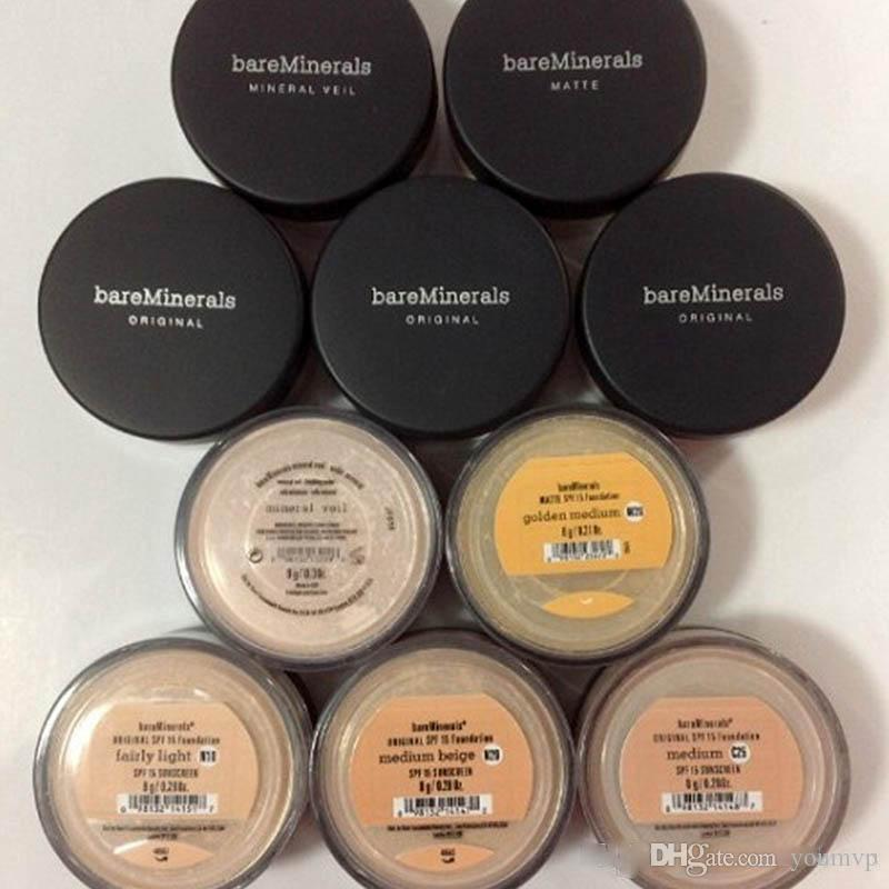 Bare Minerals Loose Powder Bareminerals Face Powder Foundation N10 Fairly Light/N20 Medium Beige/C10 Fair/C25 Medium/N30 Tan/W15 Light Best Matte Foundation Best Powder For Oily Skin From Youmvp, $1.71| Dhgate.Com