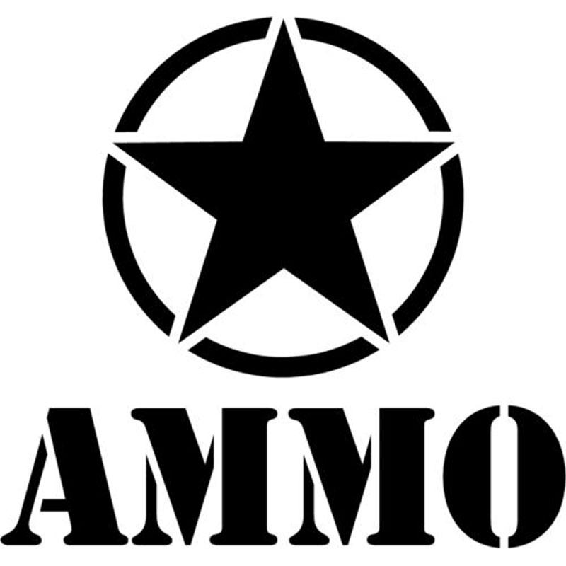 16CM * 15CM Army Star Ammo Decal Autocollants Autocollants de décoration de moto