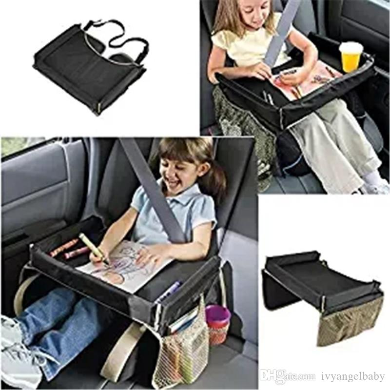 Kids Travel Car Seat Portable Play Food Tray Storage Durable Surface With  Cupholder U0026 Storage Pockets Kids Snack Tray Travel Tray Waterproof Storage  Tray ...