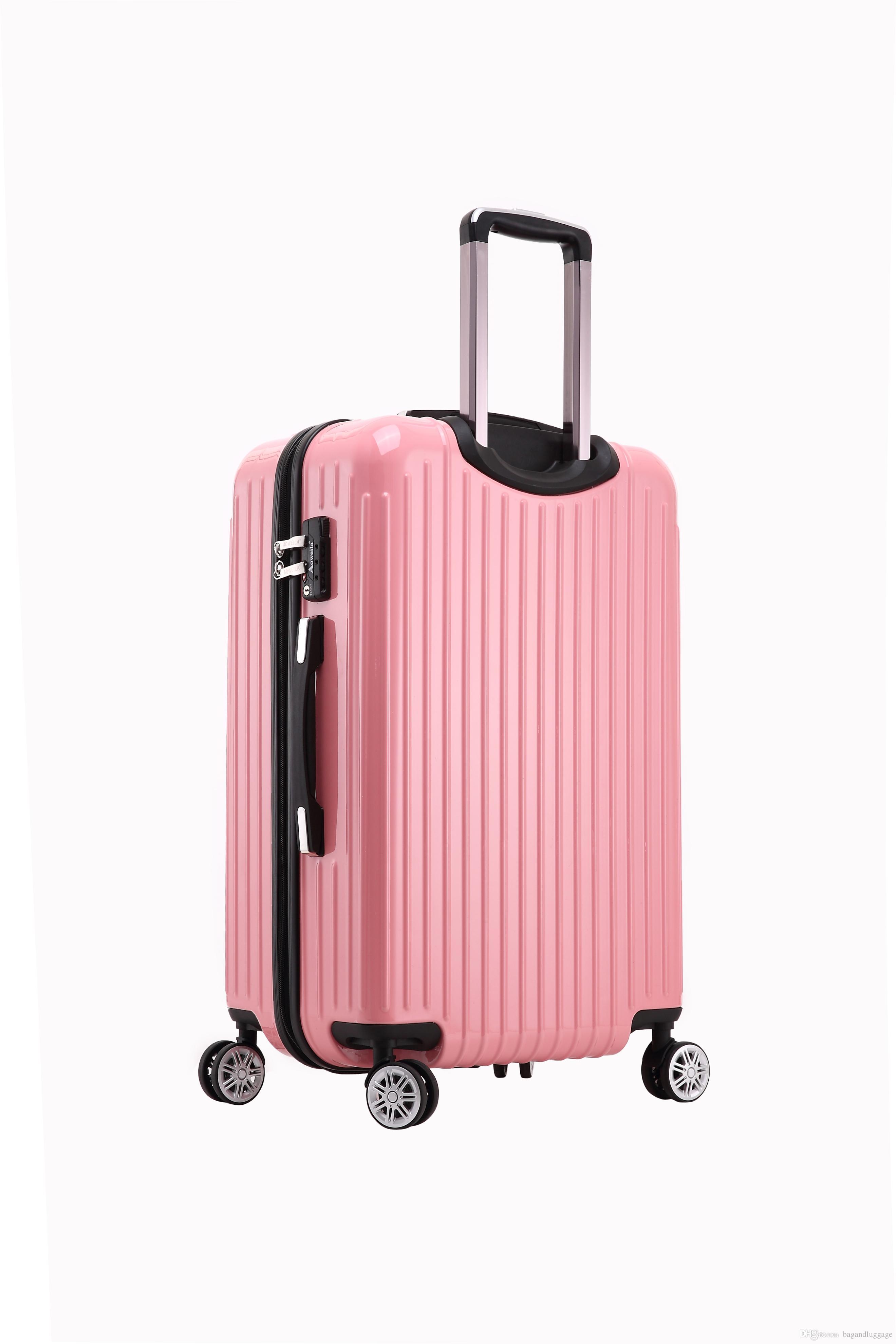Best Sale Universal Wheel New Air Trolley Luggage Bag Abs Printed ...