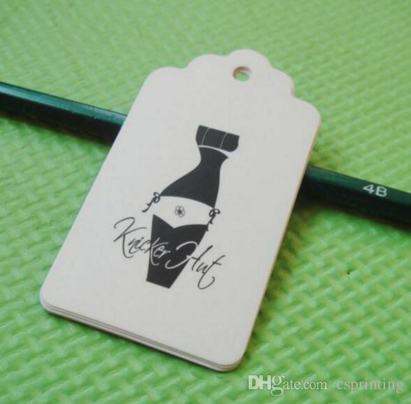 Custom Die Cut Hang Tags Swing Tag Printed 350gsm Laminated Art ...