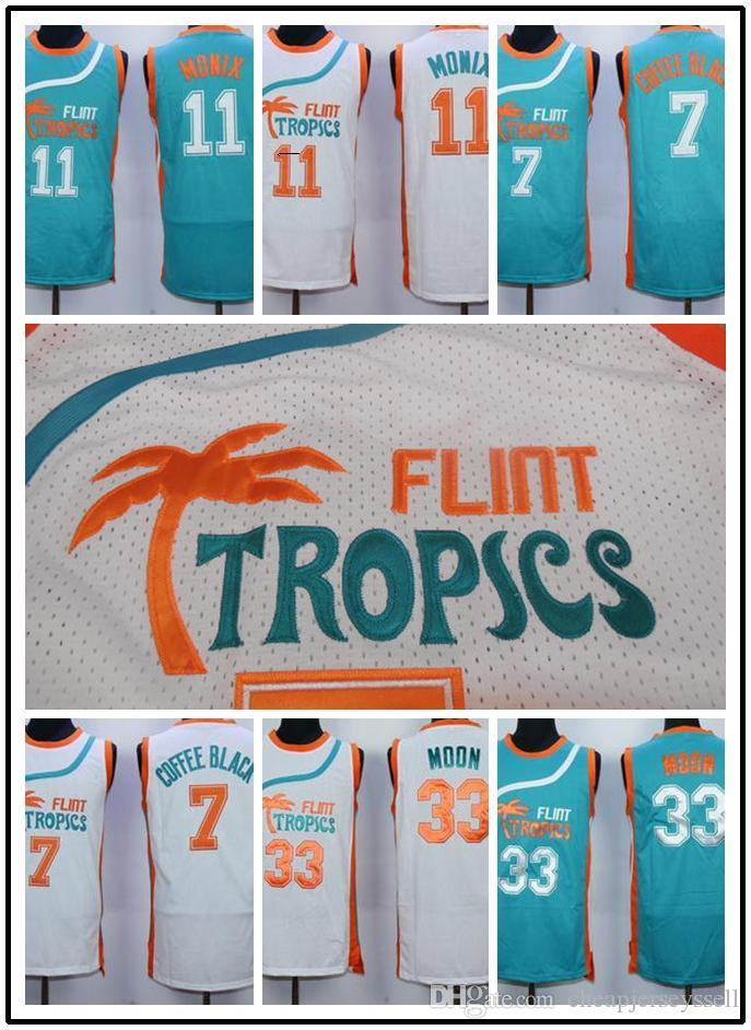 Jackie Moon # 33 Flint Tropical Semi Basketball jerseys Journaux de remorquage d