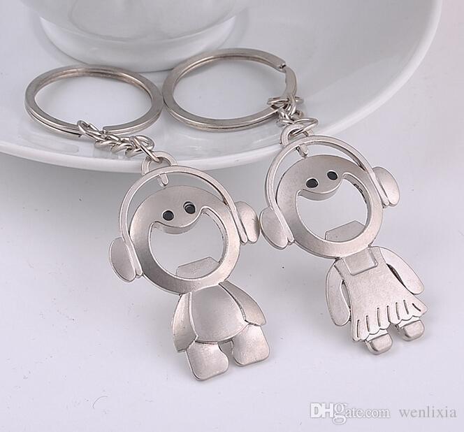 Wedding Ring On Chain Boy Or Girl: Couple Key Chain Ring Boy & Girl Keychain Couples Keyring