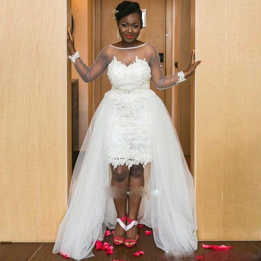 Wedding Dresses 2017 In South Africa : South africa hi lo backless sheath wedding dresses