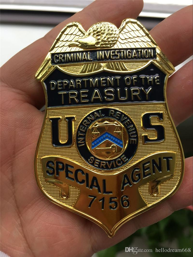 2017 us criminal investigation department of the treasury special agent metal badge halloween. Black Bedroom Furniture Sets. Home Design Ideas