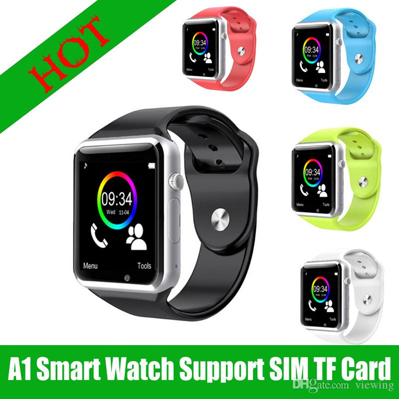 A1 Smart Watch Clock Sync Notifier Support SIM TF Card Connectivity Smart Bracel