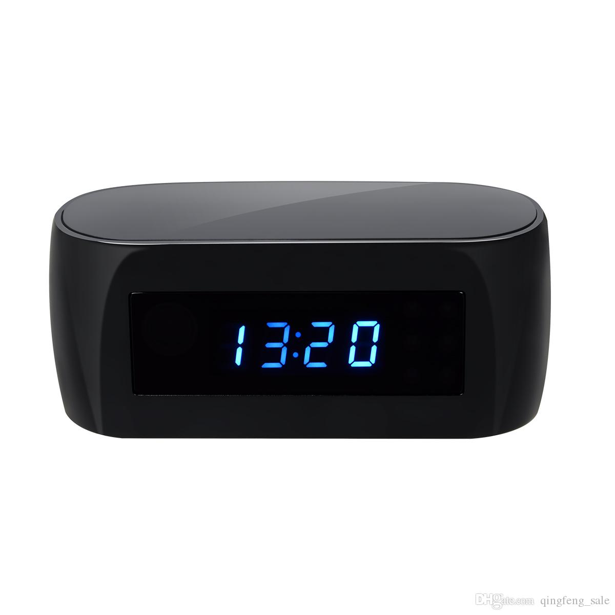 New wireless wifi hidden camera table clock motion for Table th hidden