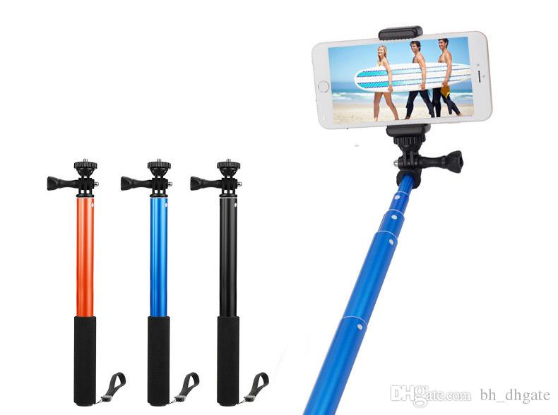 2018 with phone holder gopro hero 4 waterproof monopod tripod extendable monopod selfie stick. Black Bedroom Furniture Sets. Home Design Ideas