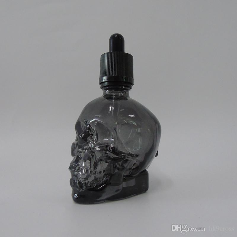 10 Best Images About Skull Perfume Bottles On Pinterest: Clear Black Skull Dropper Perfume Bottle 30ml E Liquid Juice Glass Bottle With Childproof