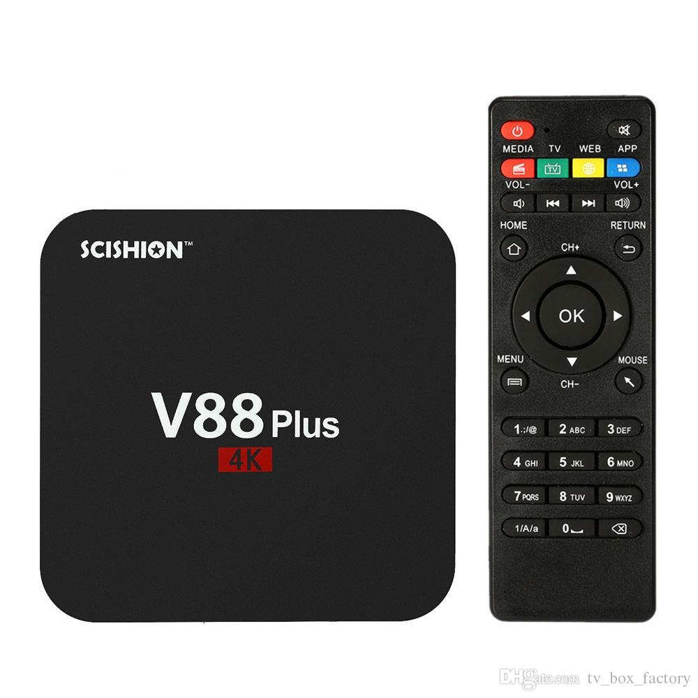 V88 Plus 4K Andorid TV BOX Rockchip RK3229 Quad Core 2G 8G Lecteur multimédia in