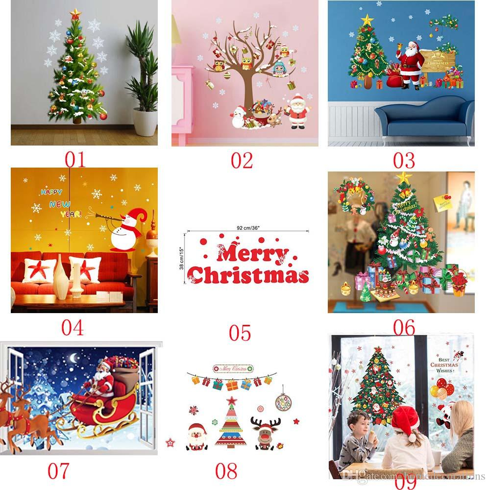 38 style removable diy merry christmas wall stickers decoration 38 style removable diy merry christmas wall stickers decoration santa claus gifts tree window wall stickers vinyl wall decals xmas decor christmas wall amipublicfo Images