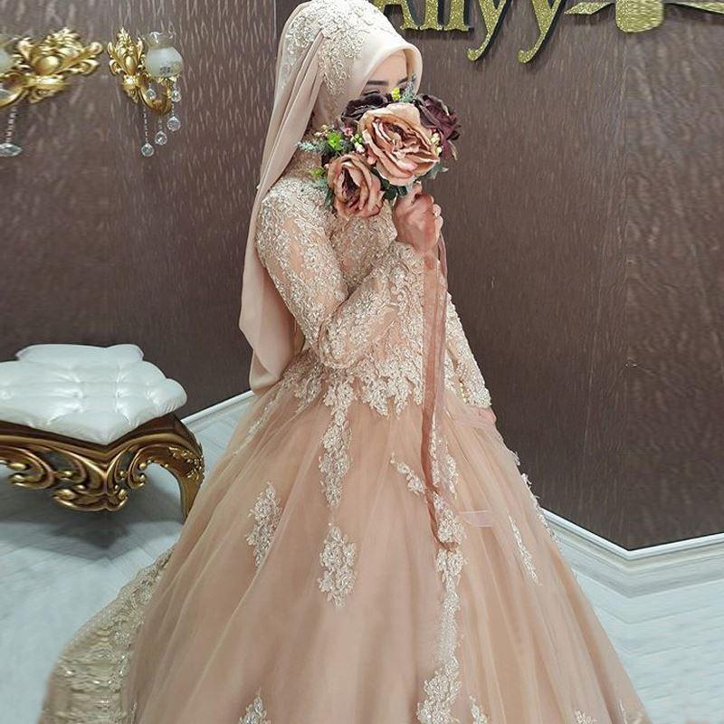 Hijab Style Turkish Islamic Wedding Dress 2016 Women Robe