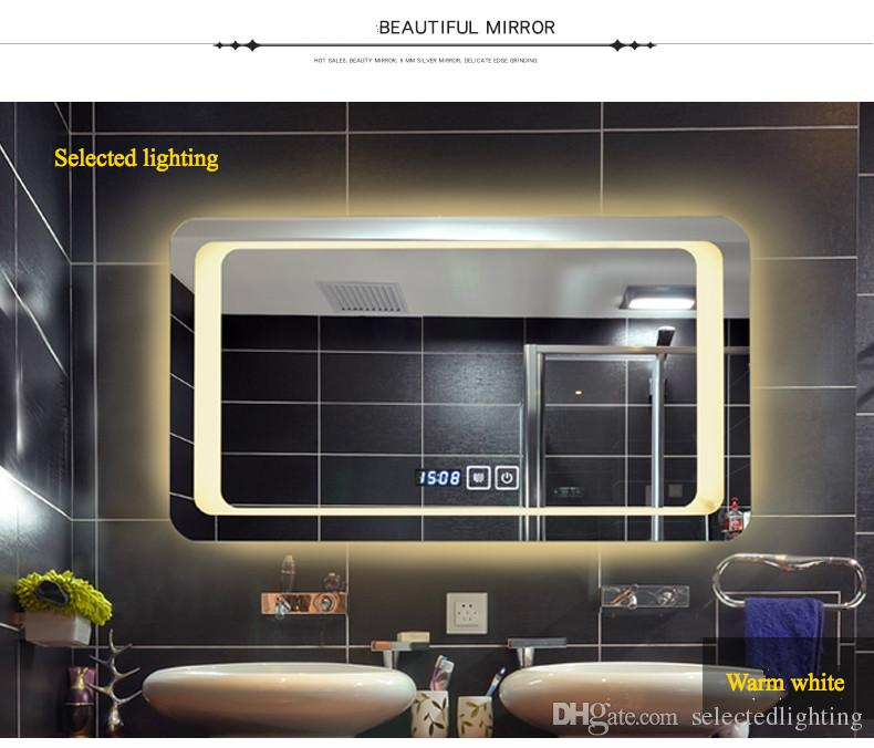 venta al por mayor espejos sin marco espejo de bao de pared inteligente de alta definicin desmontable luces de bao luces led espejos lmparas w x h with