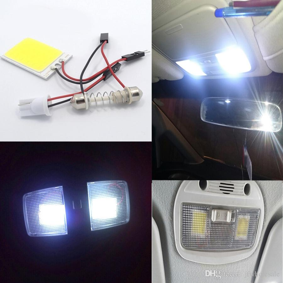 Promotion White T10 24 Smd Cob Led Panel Auto Auto Lecture intérieure Carte Lamp