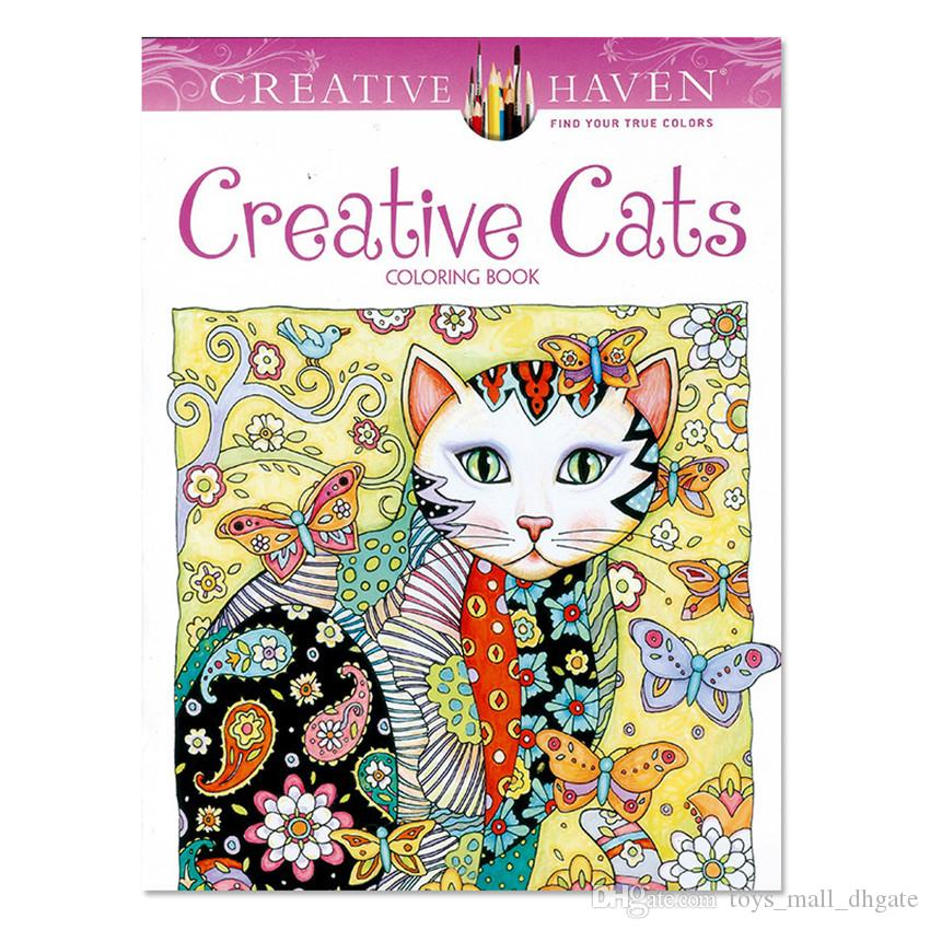 new kids coloring books drawing creative cats painting book children adult relieve stress kill time graffiti painting books coloring books drawing book