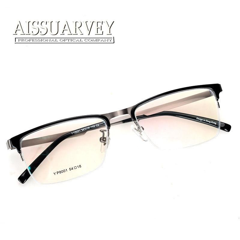 designer glasses frames for women  2017 Top Quality Eyeglasses Frame For Women Men Semi Rim Glasses ...
