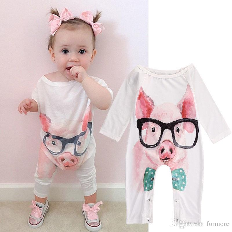 2018 Kid Famous Brand Baby Romper Boutique Little Girl