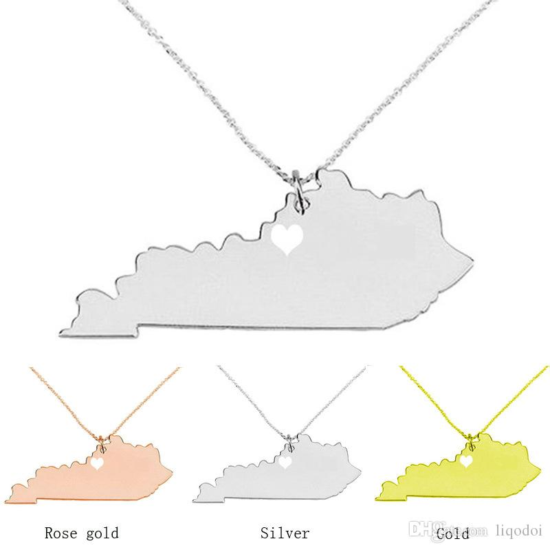 Kentucky state necklace map pendant necklaces usa state pendants kentucky state necklace map pendant necklaces usa state pendants map necklace with a heart handmade jewelry map necklaces pendant necklace kentucky state aloadofball Gallery