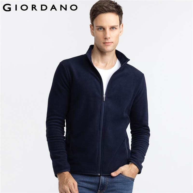 2017 Wholesale Giordano Men Jacket Fleece Long Sleeves Standing ...