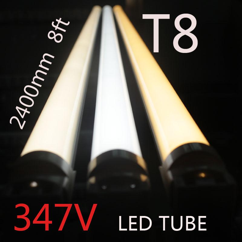 Canada 347V tension industrielle T8 R17D 8ft FA8 LED tube Lampes tube lumière sm