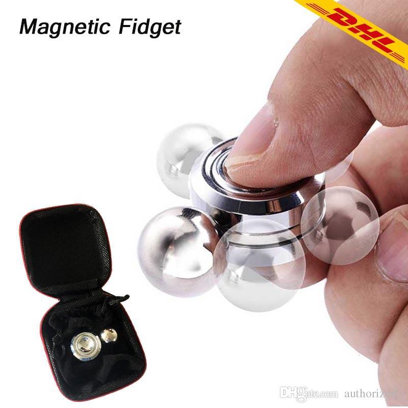 2018 New Metal Fidget Spinner Magnetic Fidget Orbiter