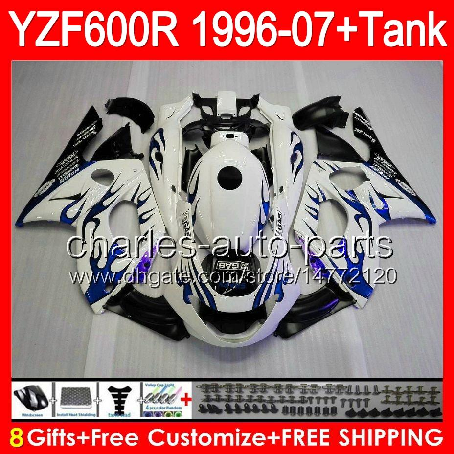 8gifts blue flames Pour YAMAHA Thundercat YZF600R 96 97 98 99 00 01 80NO103 YZF-