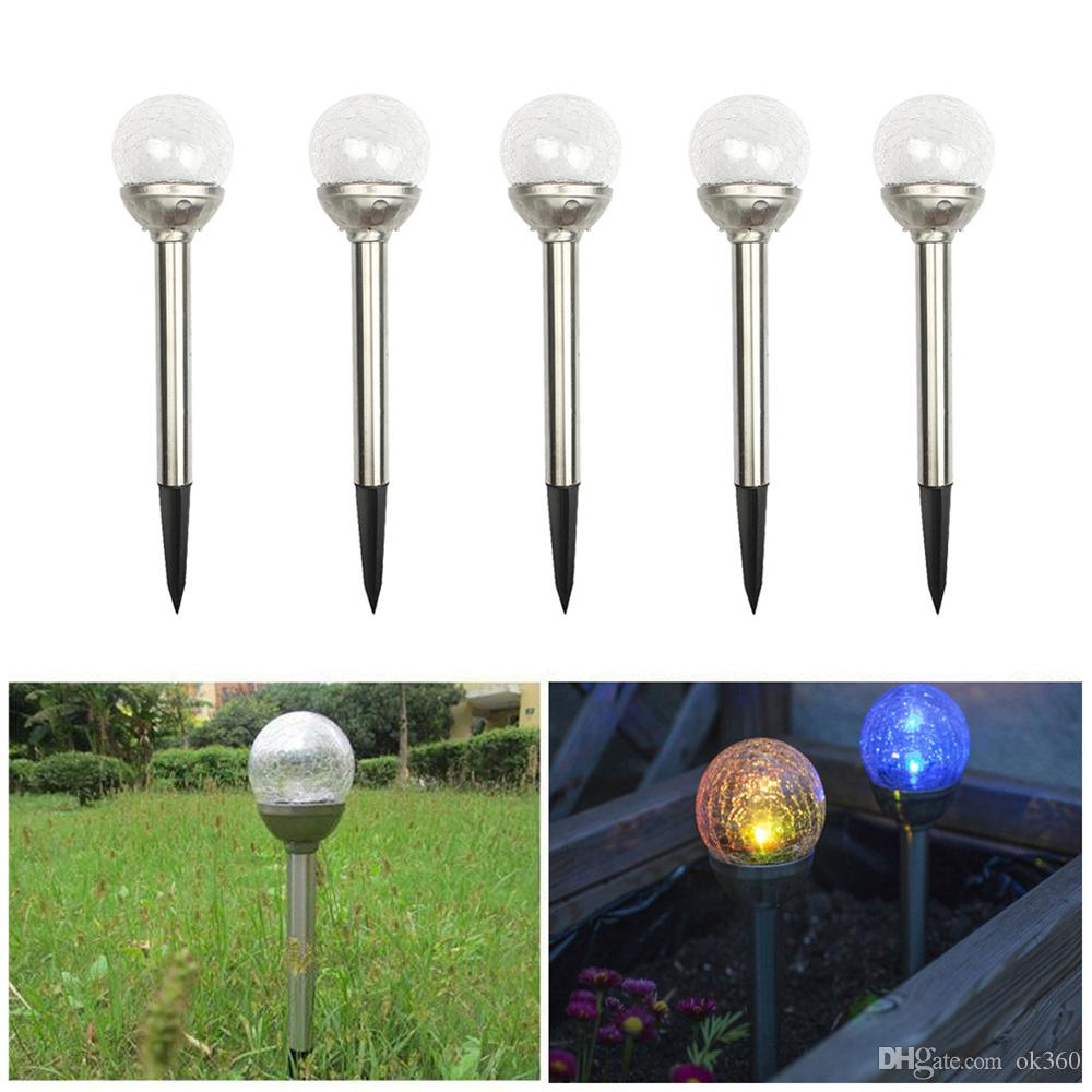 best led rgb solar lamps garden lawn light stake path. Black Bedroom Furniture Sets. Home Design Ideas