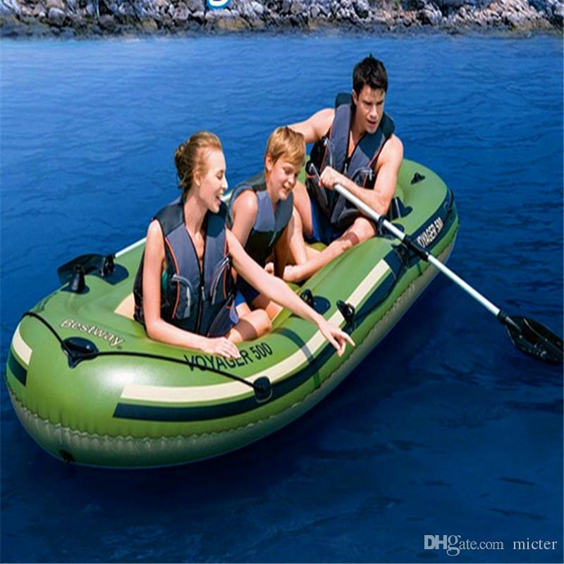 2017 3 person inflatable fishing boat 348x142cm made from for 4 person fishing boat