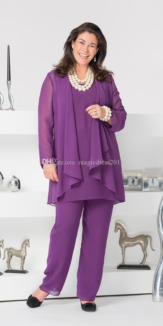 Elegant 2016 Mother Of The Bride Pant Suits Dresses With