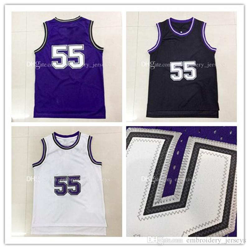 Top qualité # 55 Jason Williams Maillots de basket-ball Hommes Sports porter des