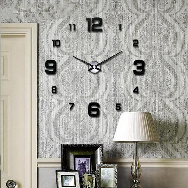 Home Decor Wall Clocks Creative Arabic Numerals Mirror