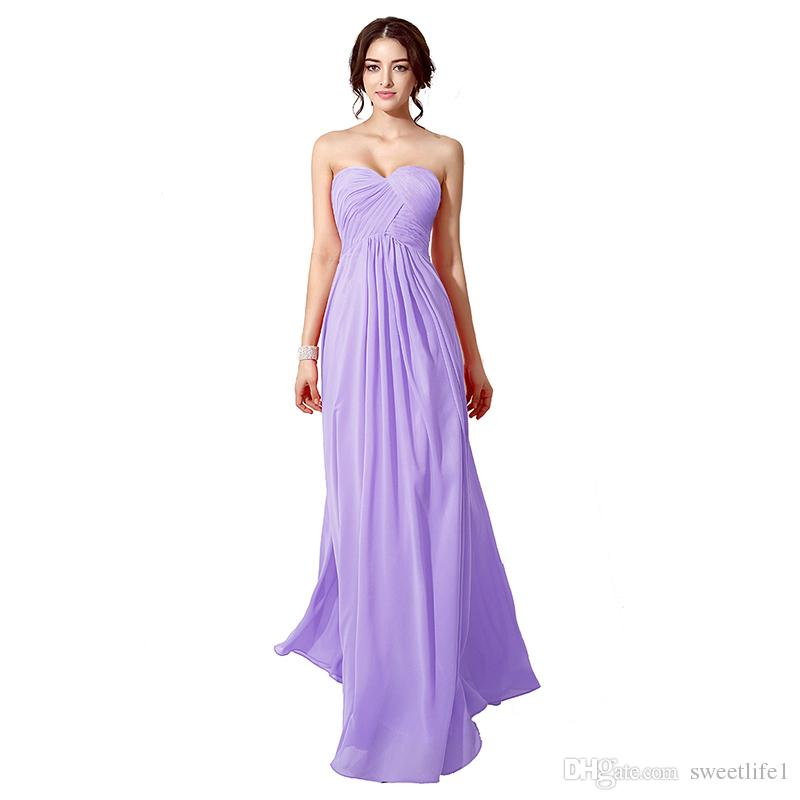 2017 Cheap In Stock Bridesmaid Dresses Sweetheart Neck Pleated ...