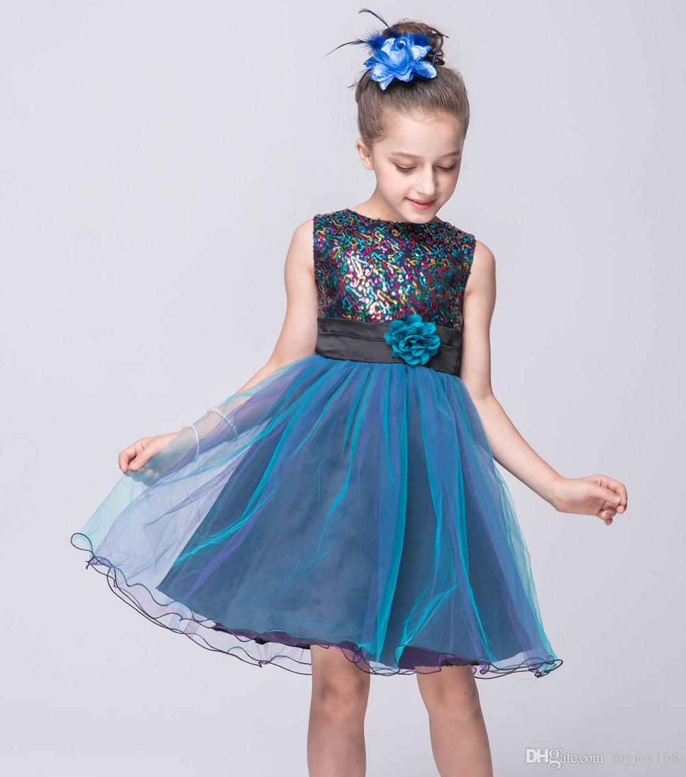 Baby Girl Party Dress Children Frocks Designs Wedding Party ...