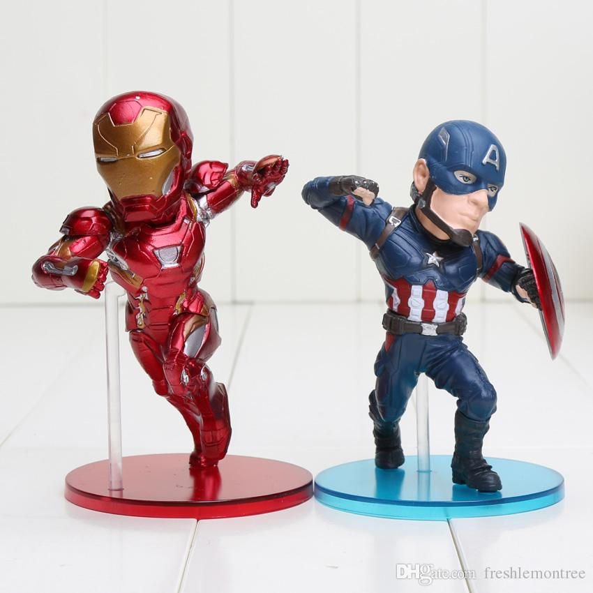Civil Protection Toys : Captain america action figure civil war ironman vs