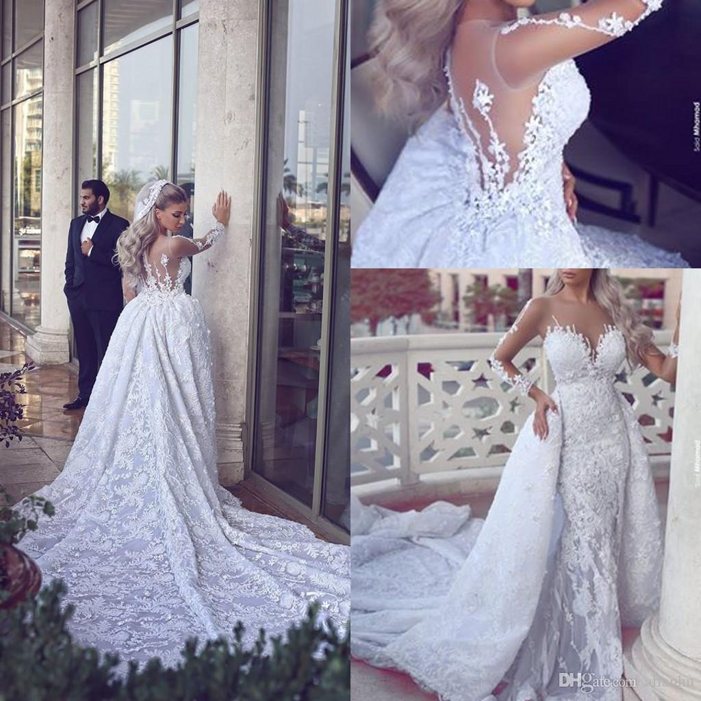 Discount 2017 New Arrival Luxury Lace Wedding Dresses Long