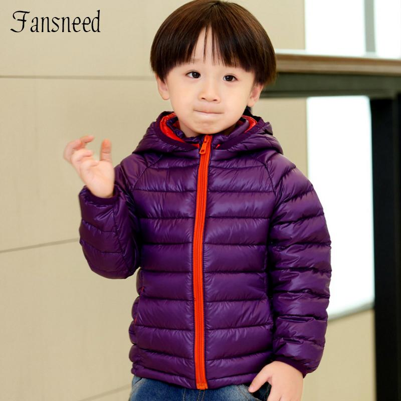 2016 New Winter Cotton Padded Clothes Children Coat Down Jacket