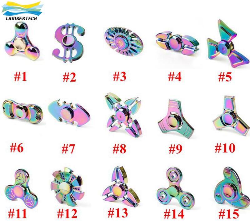 Finger spinner rainbow color thor fidget spinner butterfly for Fish fidget spinner