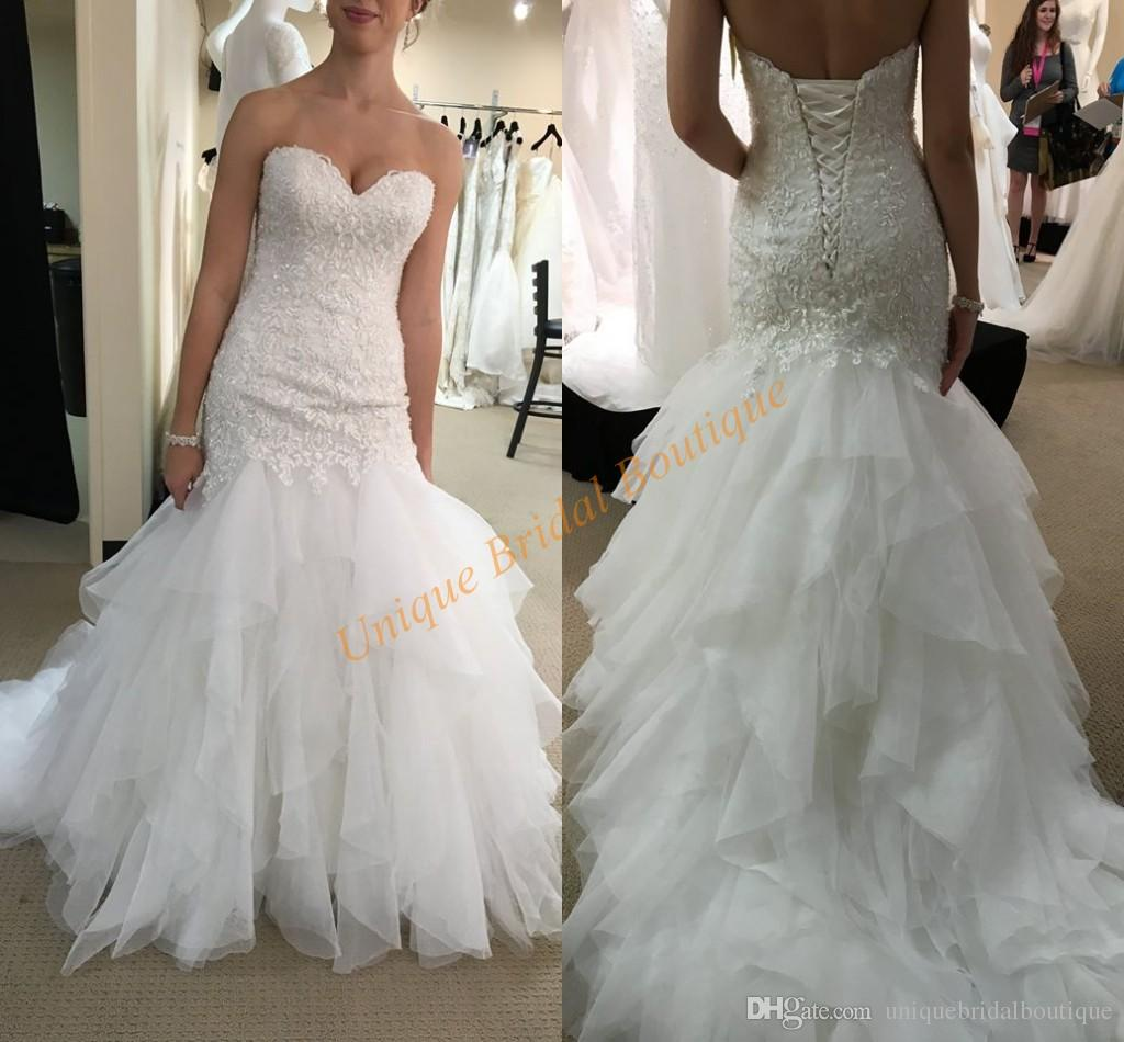 sexy wedding dresses 2017 famous designers inspired fit and flare vestido de novia with lace up
