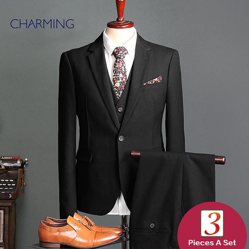 Men S Suits Sale Black Men'S Plaid Suit Three Piece Suit For Man