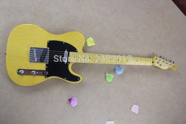- F tele Ameican Art signature telecaster yellow Electric guitar @2