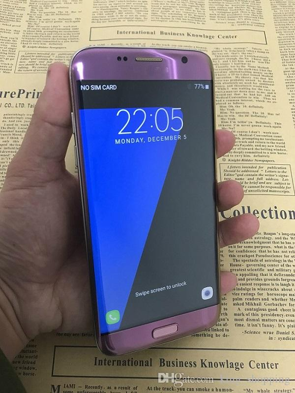 New Purple Color Goophone S7 Edge Quad Core MTK6580 1 Go de RAM ROM 8 Go Android