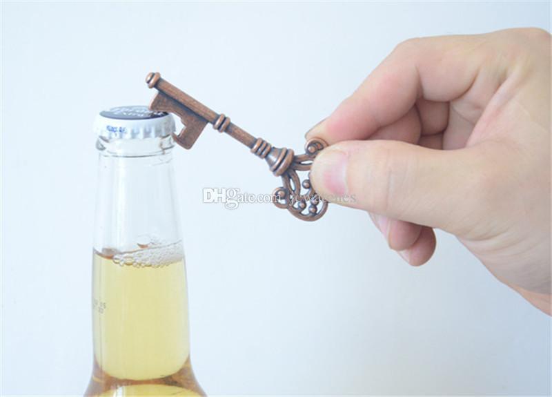 2017 key shape bottle openers bronze silver color keychain beer bottle opener antique retro. Black Bedroom Furniture Sets. Home Design Ideas