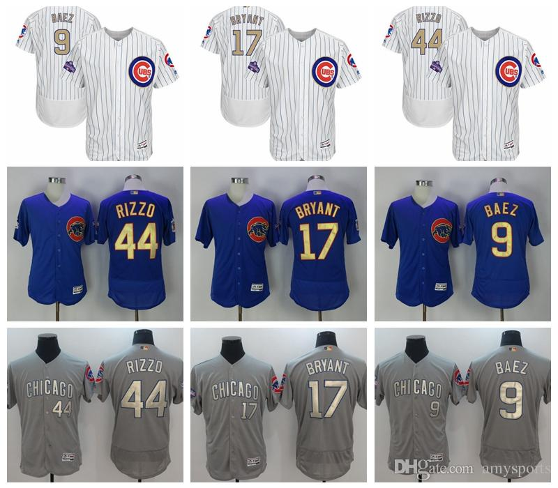 2017 Men's Chicago Cubs Jersey 17 Kris Bryant 44 Anthony Rizzo 9 Javier Baez MLB