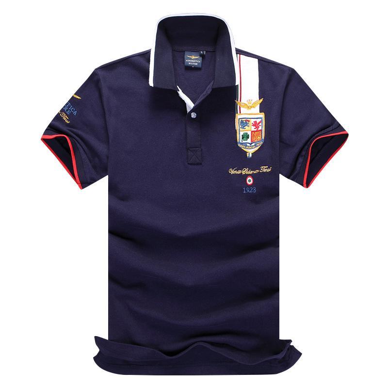 2017 high quality polo shirt aeronautica militare man tees for High quality embroidered polo shirts