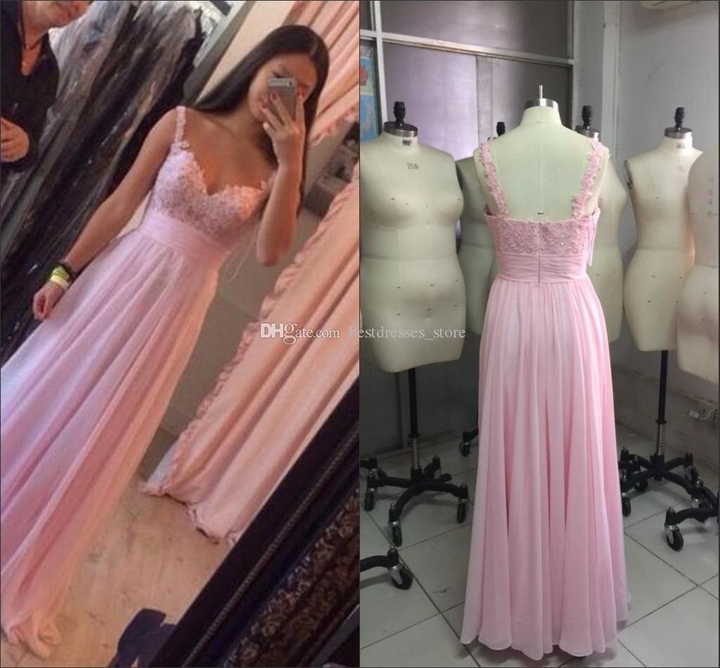 2017 new cheap pink bohemian beach bridesmaid dresses spaghetti 2017 new cheap pink bohemian beach bridesmaid dresses spaghetti backless chiffon maid of honor wedding guest dresses prom gowns custom made bridesmaid ombrellifo Gallery
