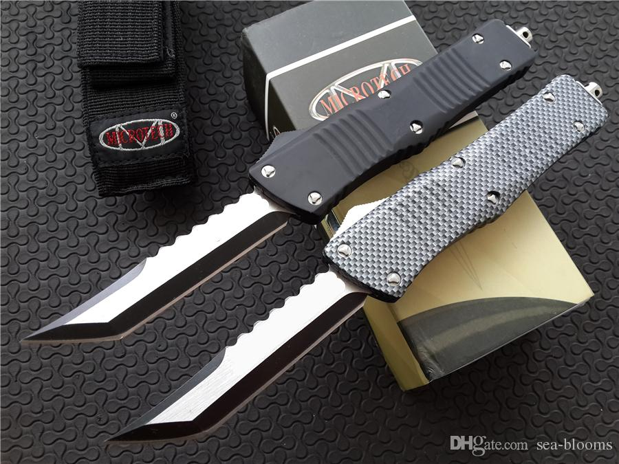 Microtech Marfione Custom Combat Troodon Hellhound Tanto Couteau à double action