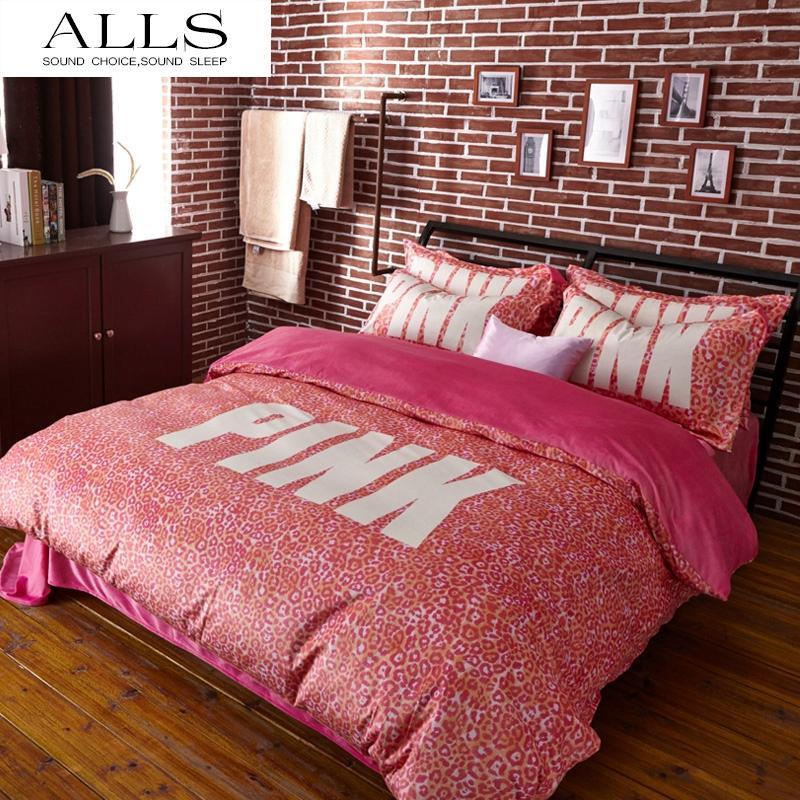 Wholesale Pink Vs Secret Winter Bedding Set Velvet Bed