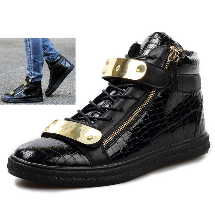 New 2014 Design Men Sneakers Fashion High Top Casual