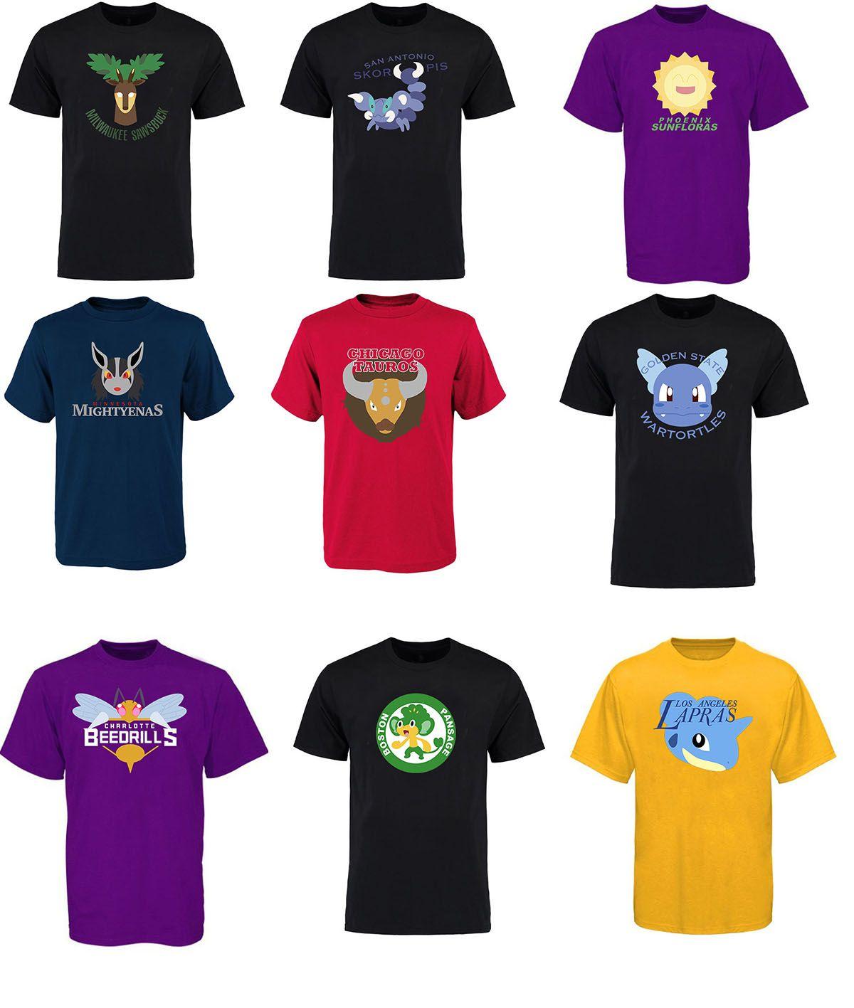 Design t shirt online usa - 17 18 Usa Basketball 30 Team Pocket Monster Logo Design T Shirt Poke Mon Hoodies For Man Women Kid T Shirt Basketball Online With 17 15 Piece On