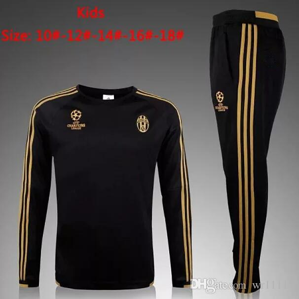 Top THAI QUALITY 2016-17Chelsea marseille AC milan Real Madrid KIDS BOYS Paris football chandal survêtement de survêtement de survêtement pantalon skinny